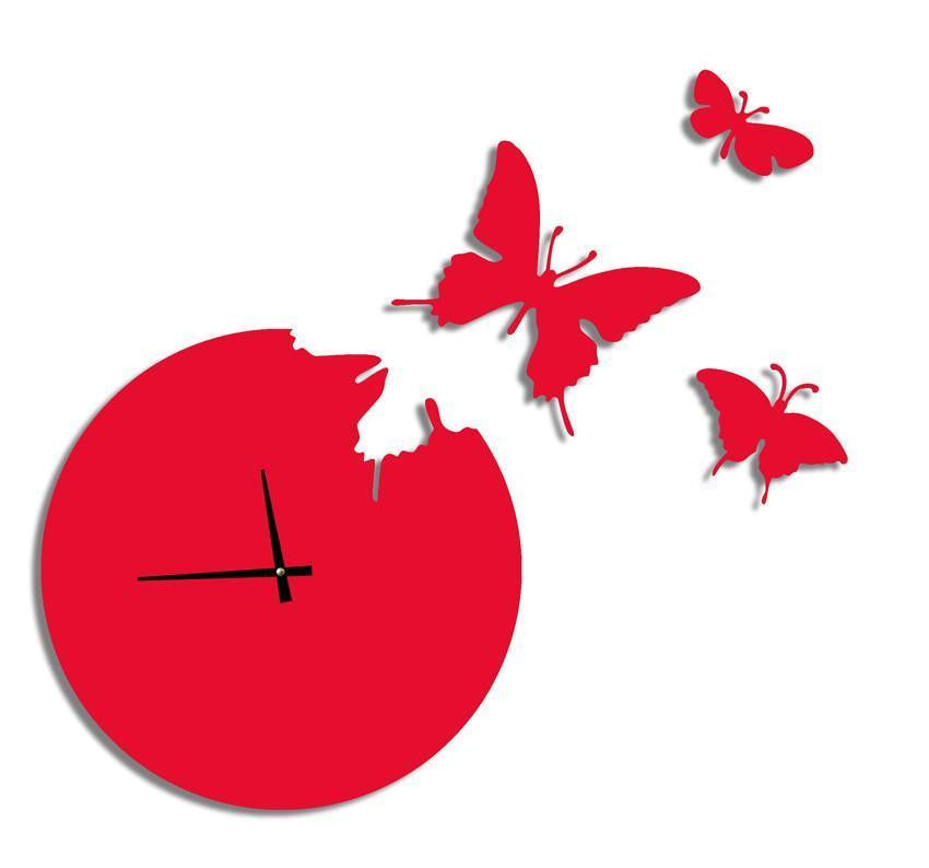 Butterfly Wall Clock INFMETRY