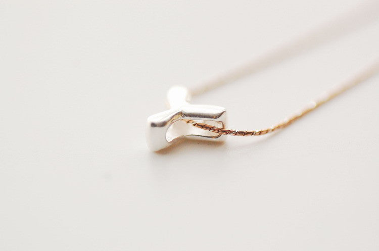 Diy silver letter necklace with your name infmetry diy silver letter necklace with your name aloadofball Choice Image