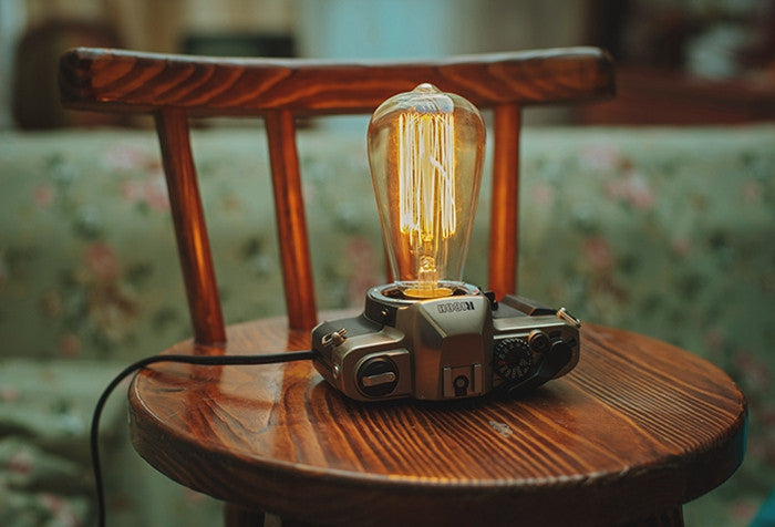 Film camera table lamp infmetry film camera table lamp aloadofball Image collections