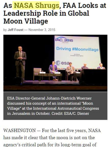 Global Moon Village - NASA Shrugs