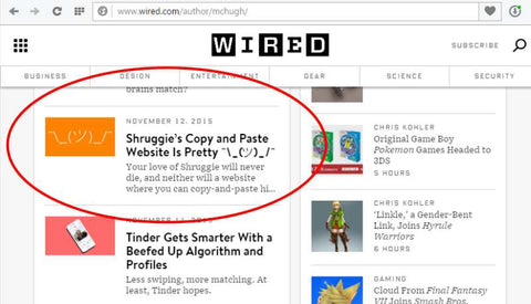 Copyshrug-Shruggie-Copy-Paste-Site-Featured-on-Wired