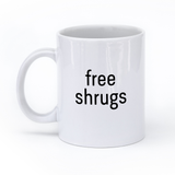 Free Shrugs Coffee Mug