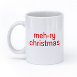 Meh-ry Christmas Mug with Shruggie the Other Side