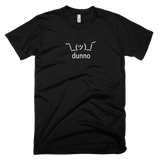 Black Dunno Men's T-shirt with Shruggie