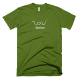 Olive Green Dunno Men's T-shirt with Shruggie