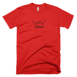 Red Dunno Men's T-shirt with Shruggie
