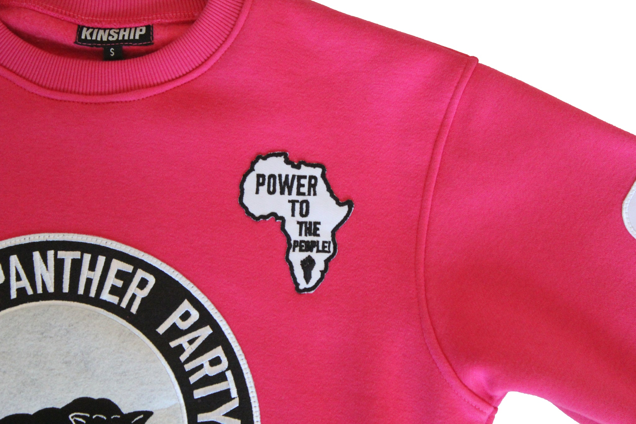 Black Panther Hockey Sweatshirt in Pink Contrast (Men's Sizing)