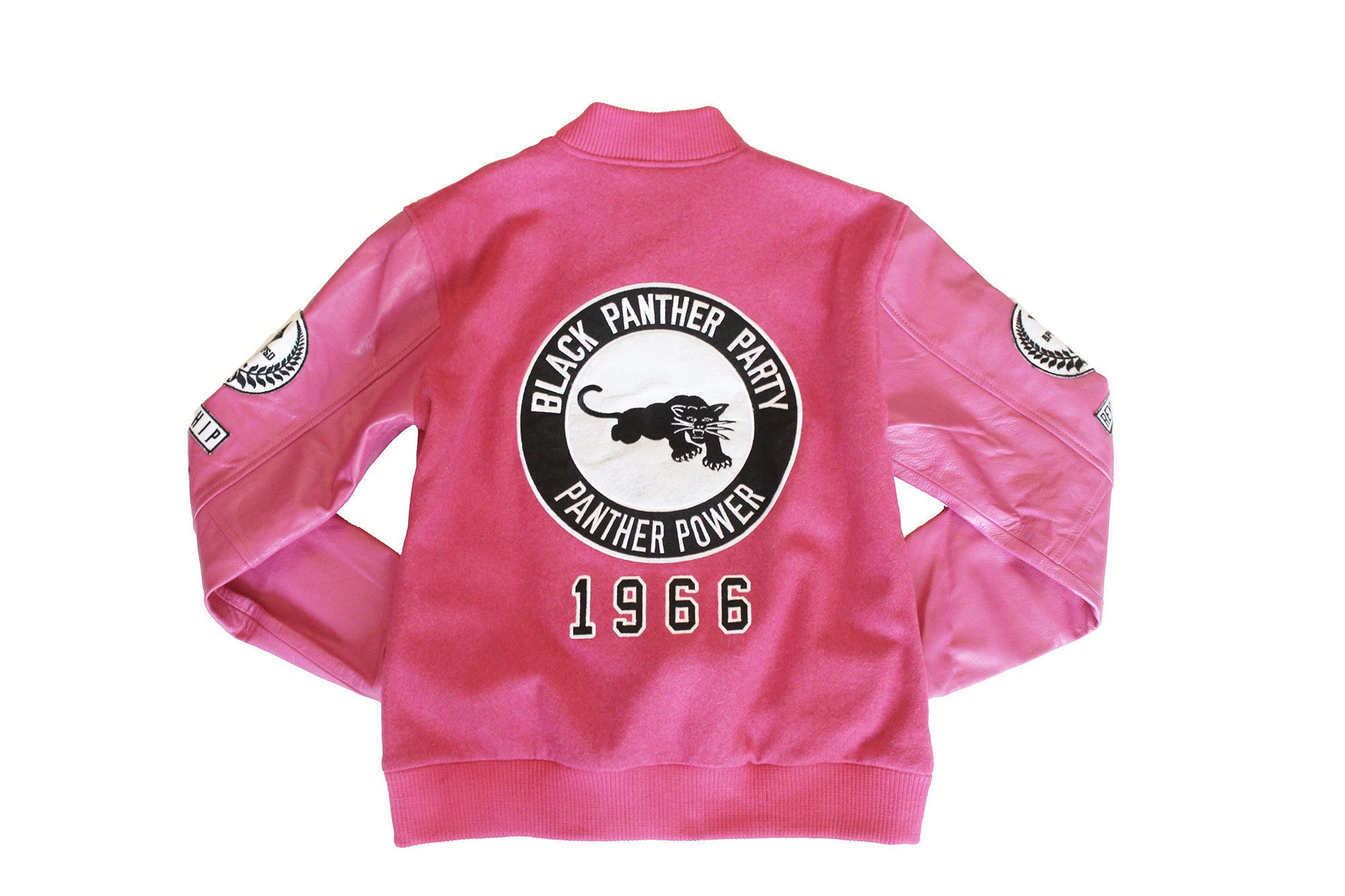 Black Panther Varsity Jacket Pink Contrast (Womens)