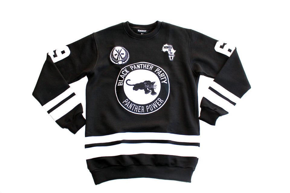 Black Panther Hockey Sweatshirt in Black