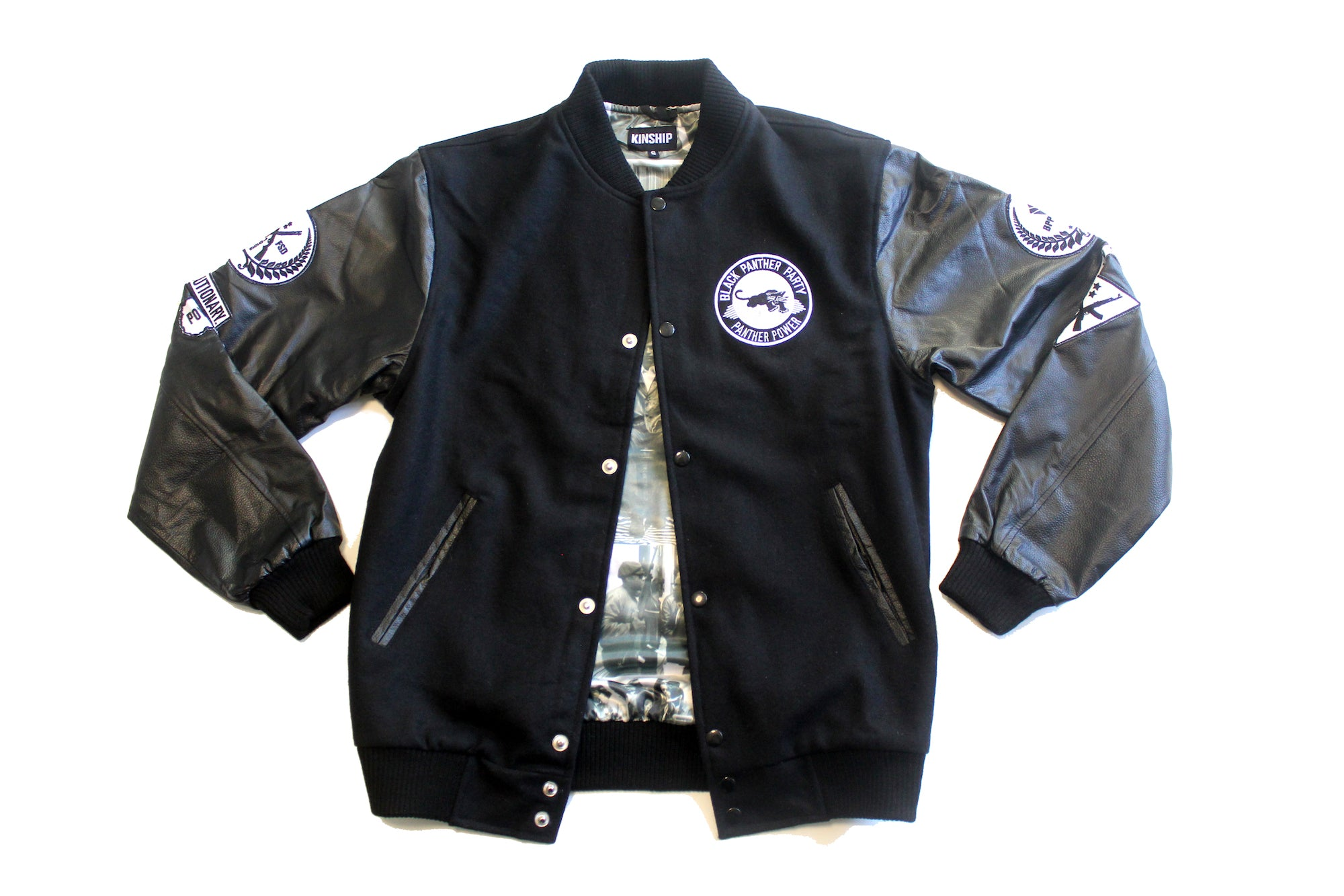Black Panther Varsity Jacket in Black