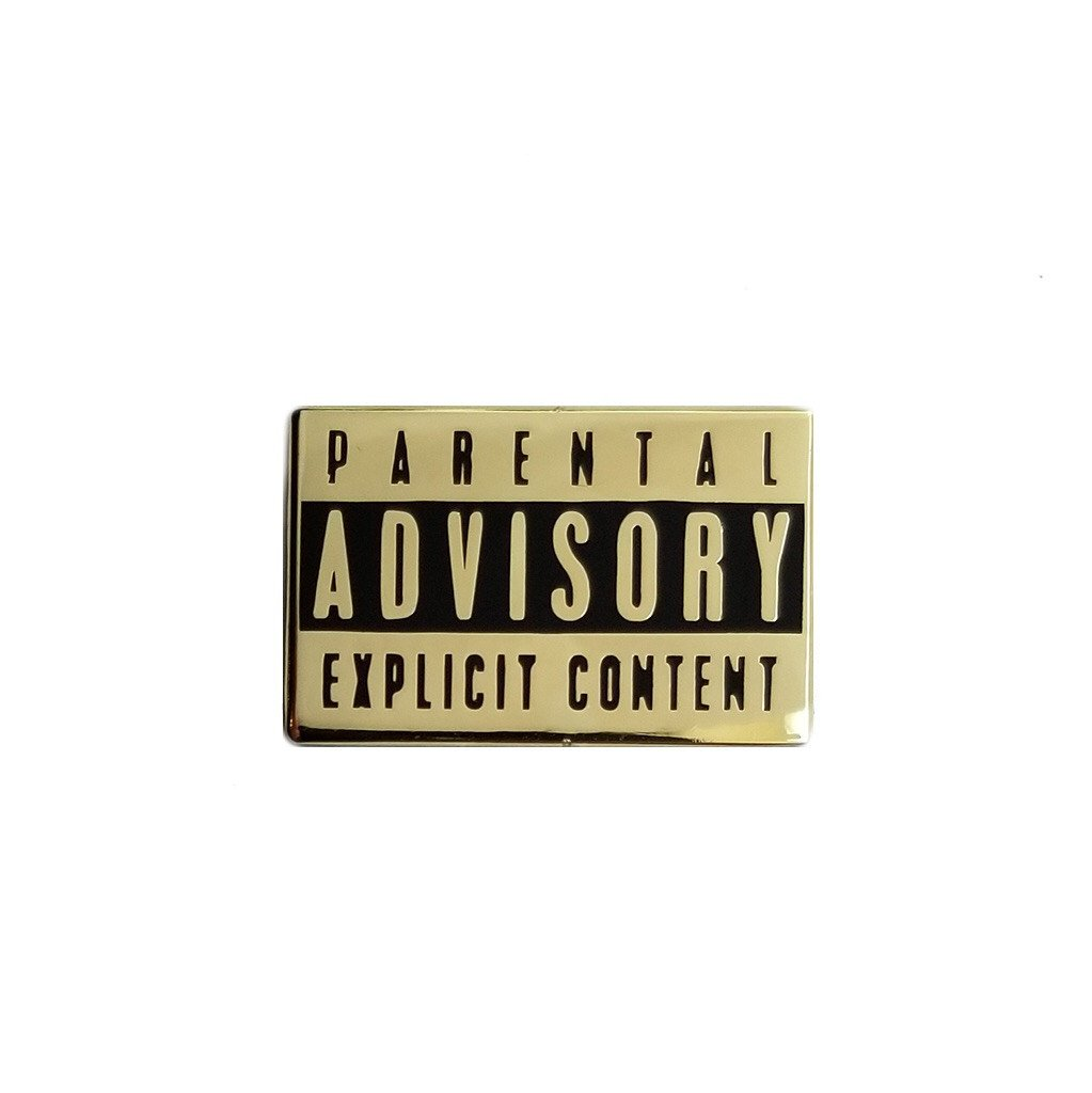 Parental Advisory Lapel Pin