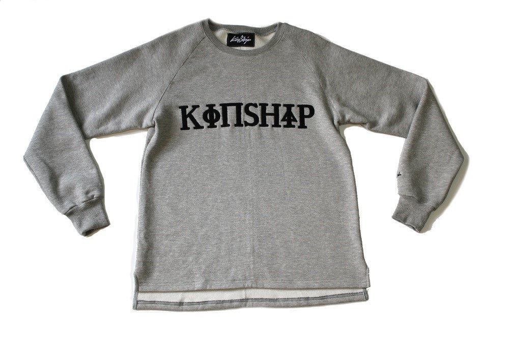 Kinship Fraternity Fleece Sweatshirt in Grey