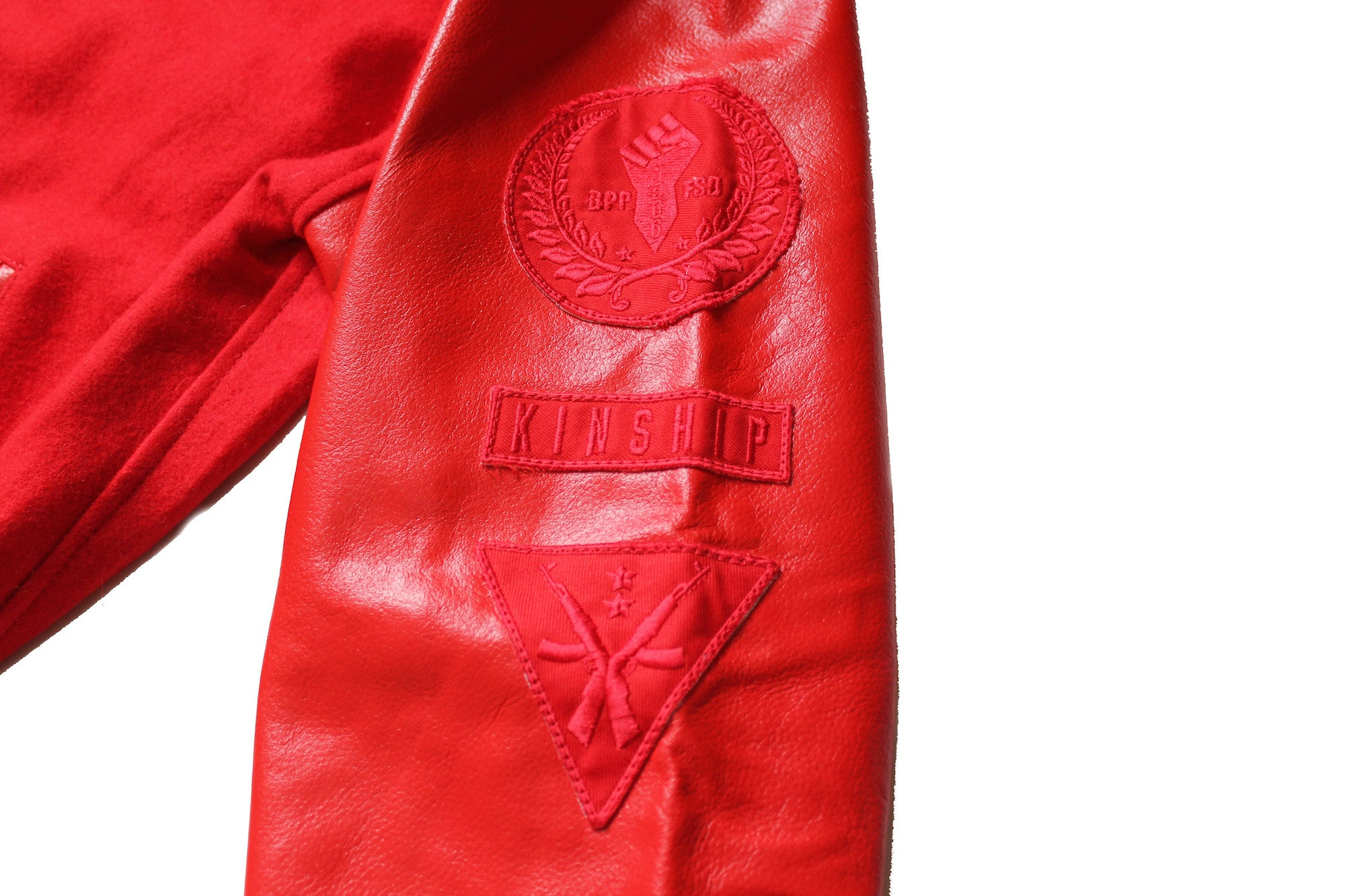 Black Panther Varsity Jacket in Tonal Red