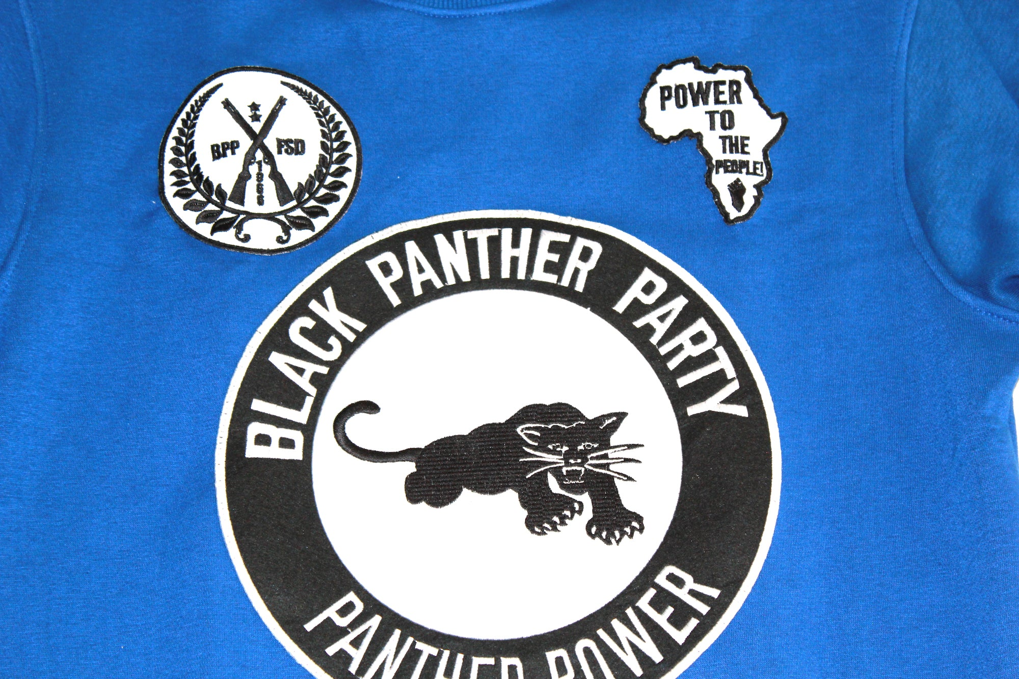 Black Panther Hockey Sweatshirt in Blue Contrast