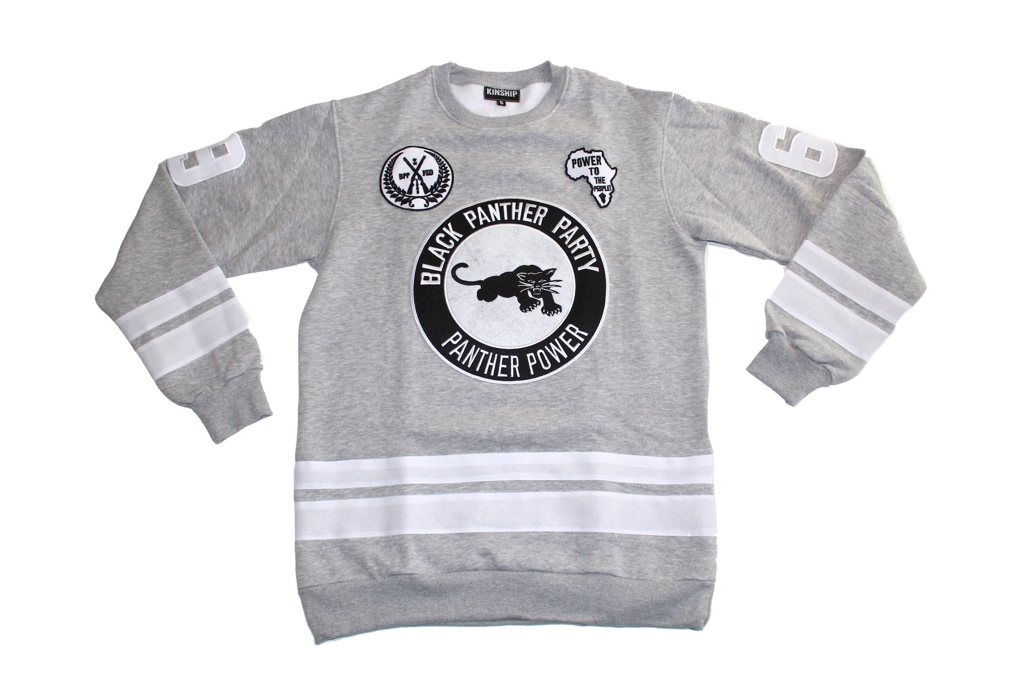 Black Panther Hockey Sweatshirt in Grey Contrast