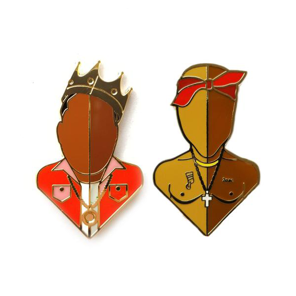 East & West Lapel Pin Set