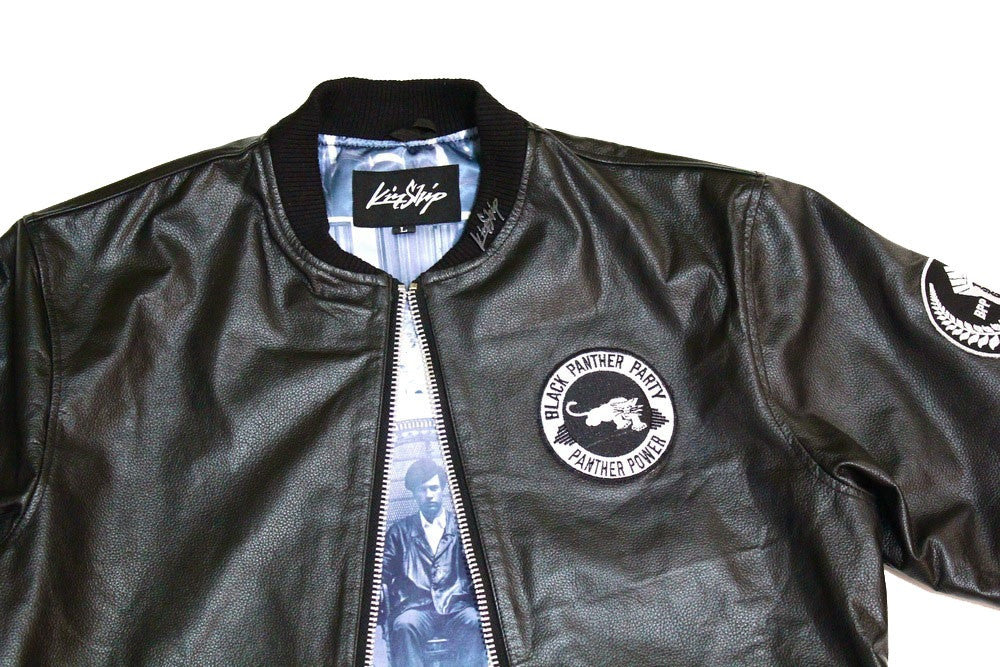 Black Panther Leather Jacket in Black