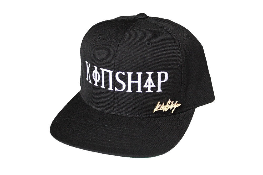 Kinship Greek Snapback in Black and White