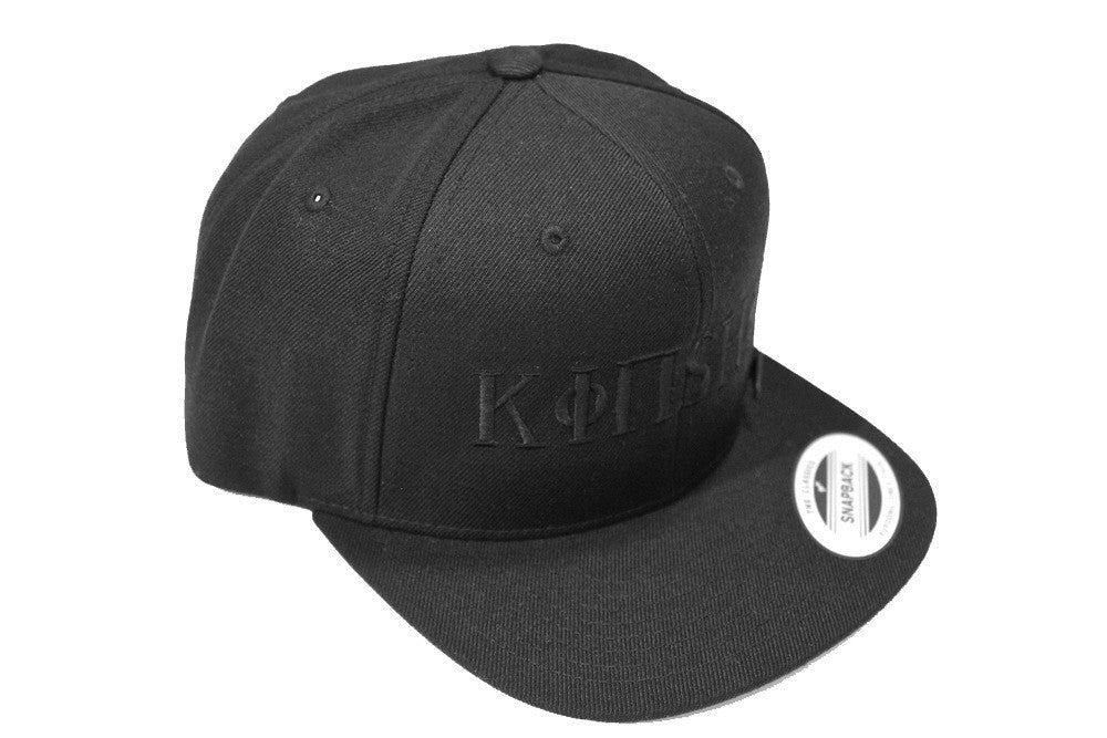Kinship Greek Snapback in Black