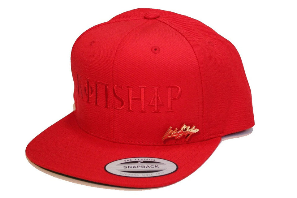 Kinship Greek Snapback in Red