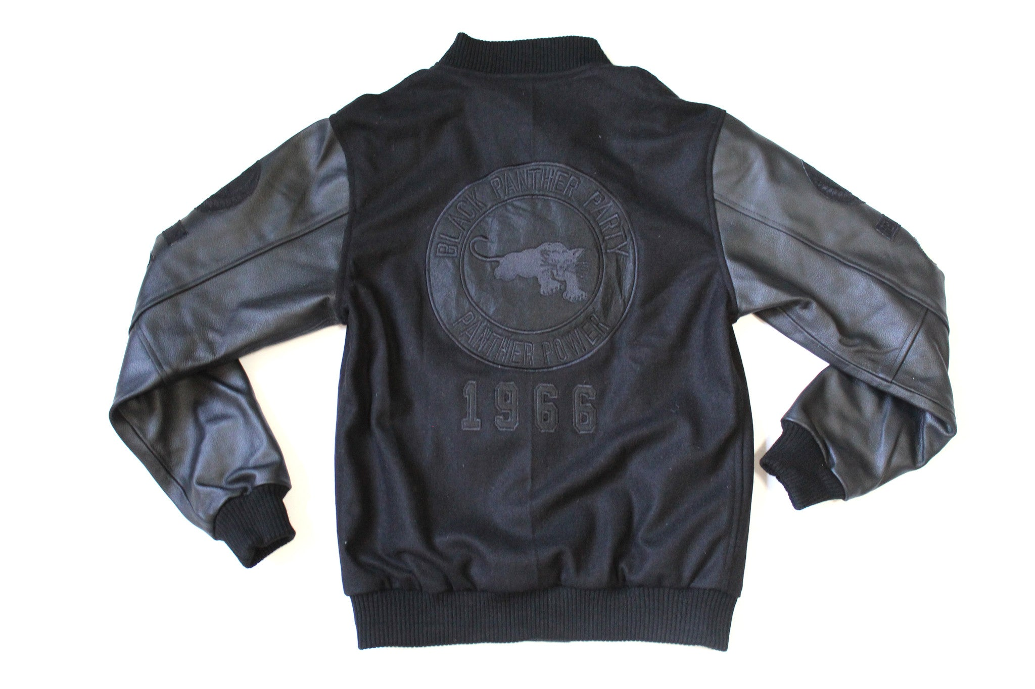 Black Panther Varsity Jacket in Mono Black