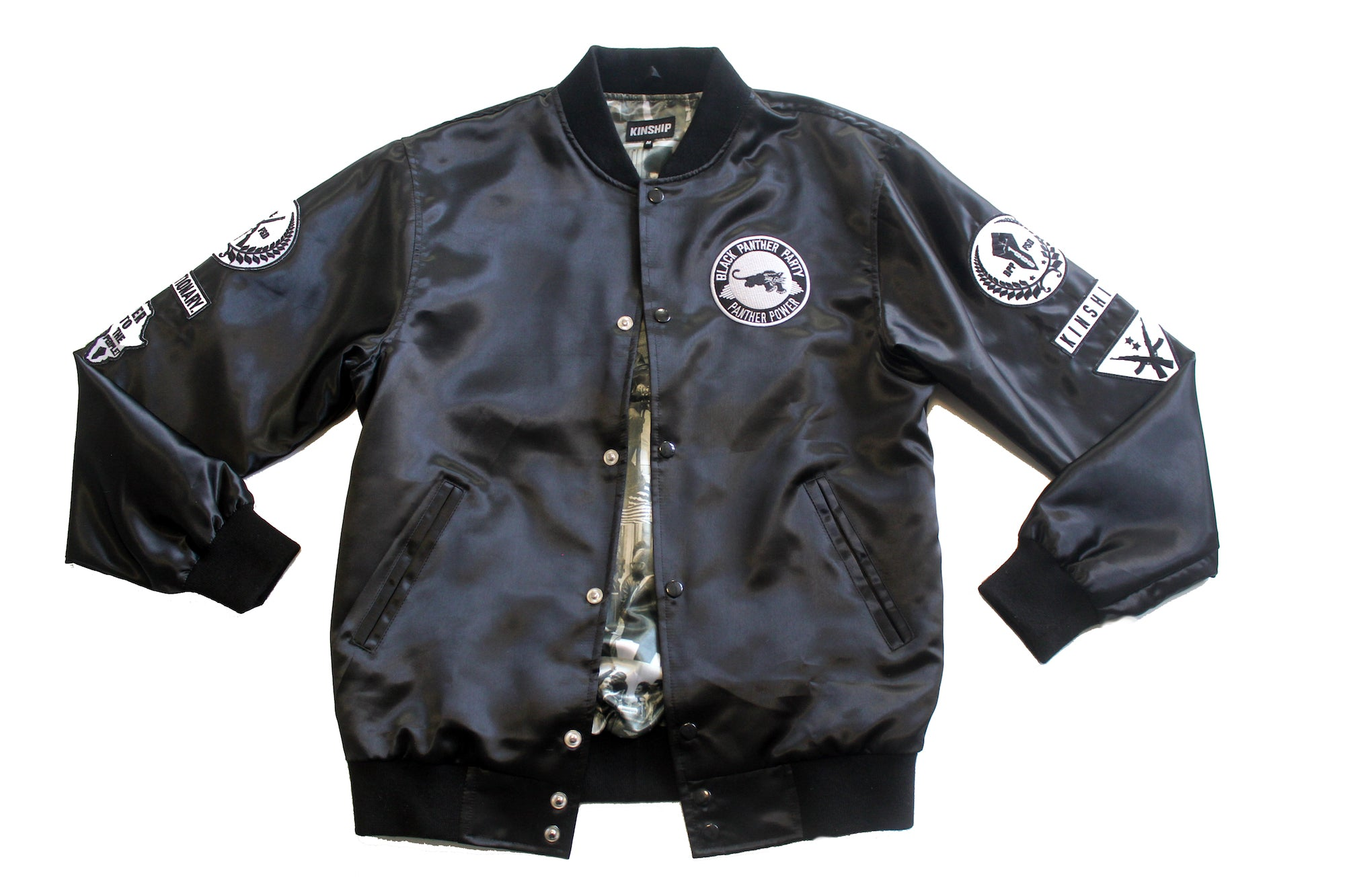 Satin Black Panther Jacket
