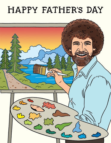 Bob Ross Father's Day
