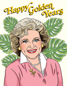 Happy Golden Years Greeting Card