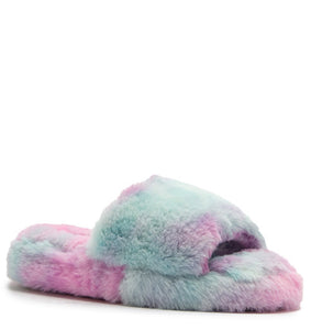 Kids Rainbow Fuzzy Slippers