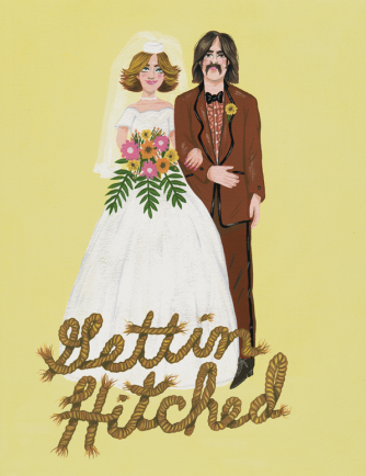 Gettin' Hitched - Red Cap Greeting Card - Ottawa, Canada