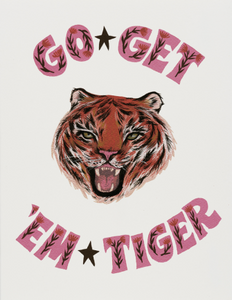 Go Get 'Em Tiger - Red Cap Greeting Card - Ottawa, Canada