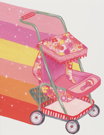 Magic Stroller Greeting Card
