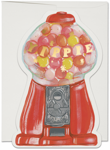 Red Cap Greeting Cards - Gumballs