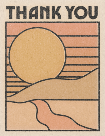 Thank You Sun - Red Cap Greeting Card - Ottawa, Canada
