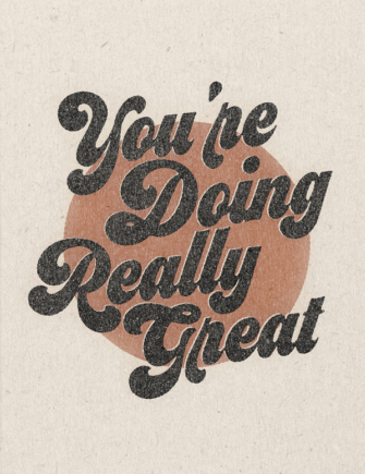 You're Doing Great - Red Cap Greeting Card - Ottawa, Canada