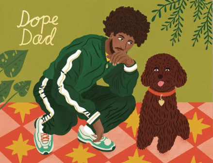 Dope Dad Greeting Card