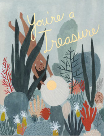 You're A Treasure Greeting Card
