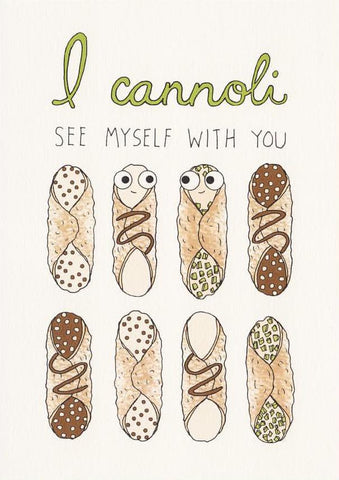 Cannoli - Fineasslines Greeting Card - Ottawa, Canada