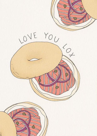 Love You Lox - Fineasslines Greeting Card - Ottawa, Canada