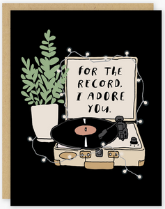 Adore You Record Greeting Card