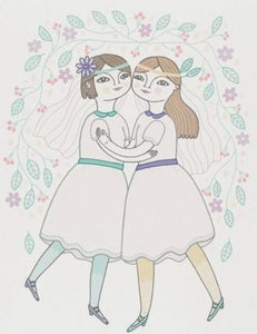 Girl Wedding Greeting Card