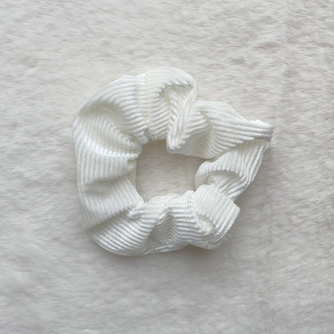 Alice Corduroy Scrunchie - White