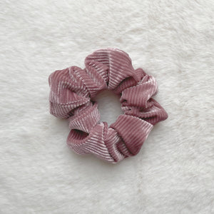 Alice Corduroy Scrunchie - Rose
