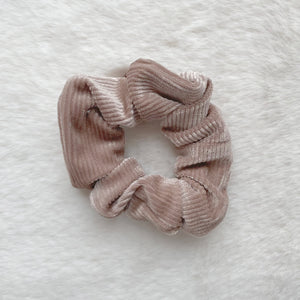 Alice Corduroy Scrunchie - Taupe