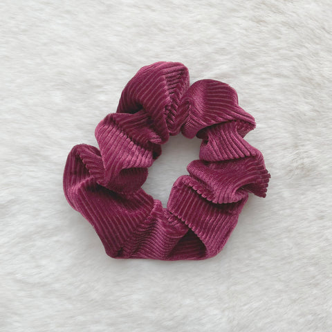 Alice Corduroy Scrunchie - Wine