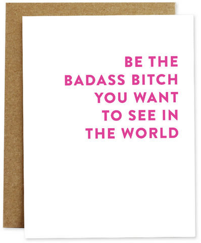 Badass Bitch Greeting Card
