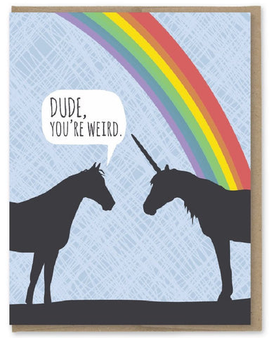 Weird Dude - Modern Printed Matter Greeting Card - Ottawa, Canada