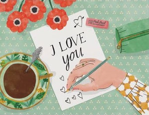 Red Cap Greeting Cards - Love Note