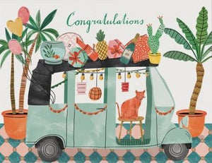 Red Cap Greeting Cards - Party Tuktuk