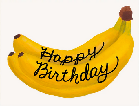 Bananas Birthday Greeting Card